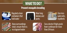Prevention of vector borne diseases - malaria, dengue, chikungunya